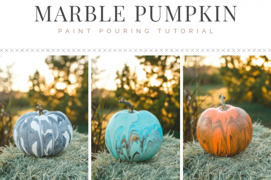 Marble Pumpkin Painting Tutorial